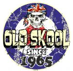 Distressed Aged OLD SKOOL SINCE 1965 Mod Target Dated Design Vinyl Car sticker decal  80x80mm